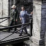 Das Königspaar besichtigt dort das Castillo de San Marcos, das älteste Mauerwerk in den gesamten USA.