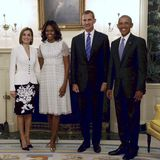 Das spanische Königspaar trifft beim Staatsbesuch natürlich auf US-Präsidenten Barack Obama und First Lady Michelle Obama.