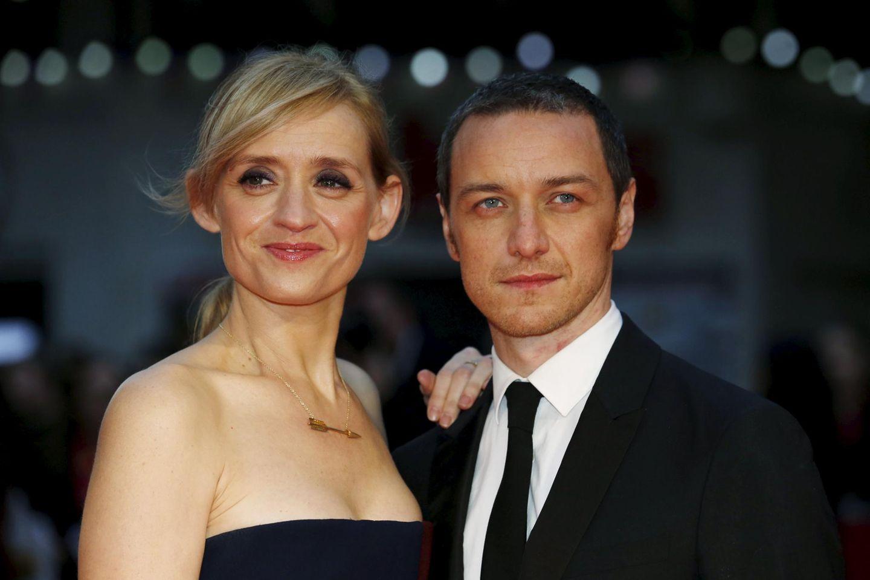 James McAvoy begleitet seine Ehefrau Anne-Marie Duff zur Premiere.