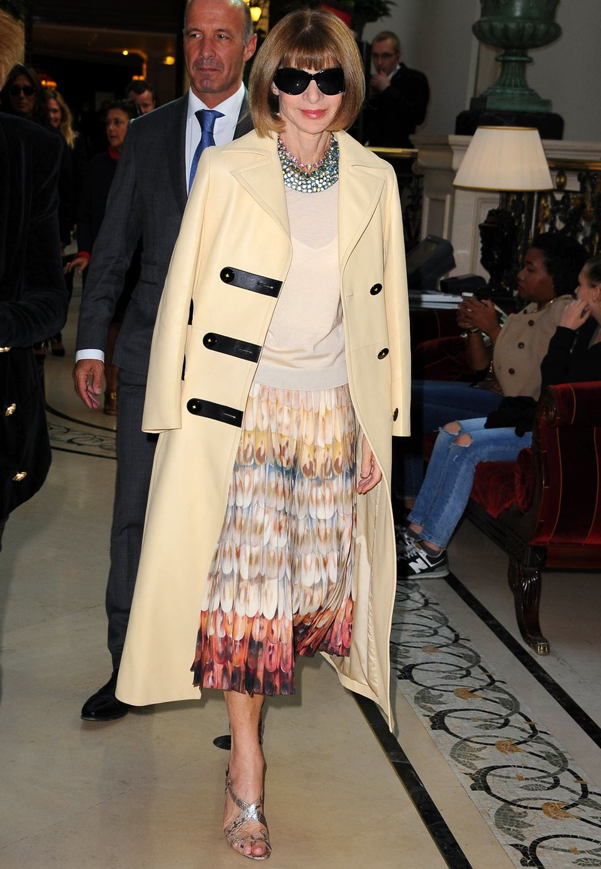 US-Vogue-Chefin Anna Wintour besucht die Modenschau vom franzäsischen Label Balmain.