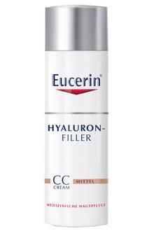 """Deckt leicht ab: """"Hyaluron-Filler CC Cream"""" von Eucerin, 50 ml, ca. 27 Euro"""