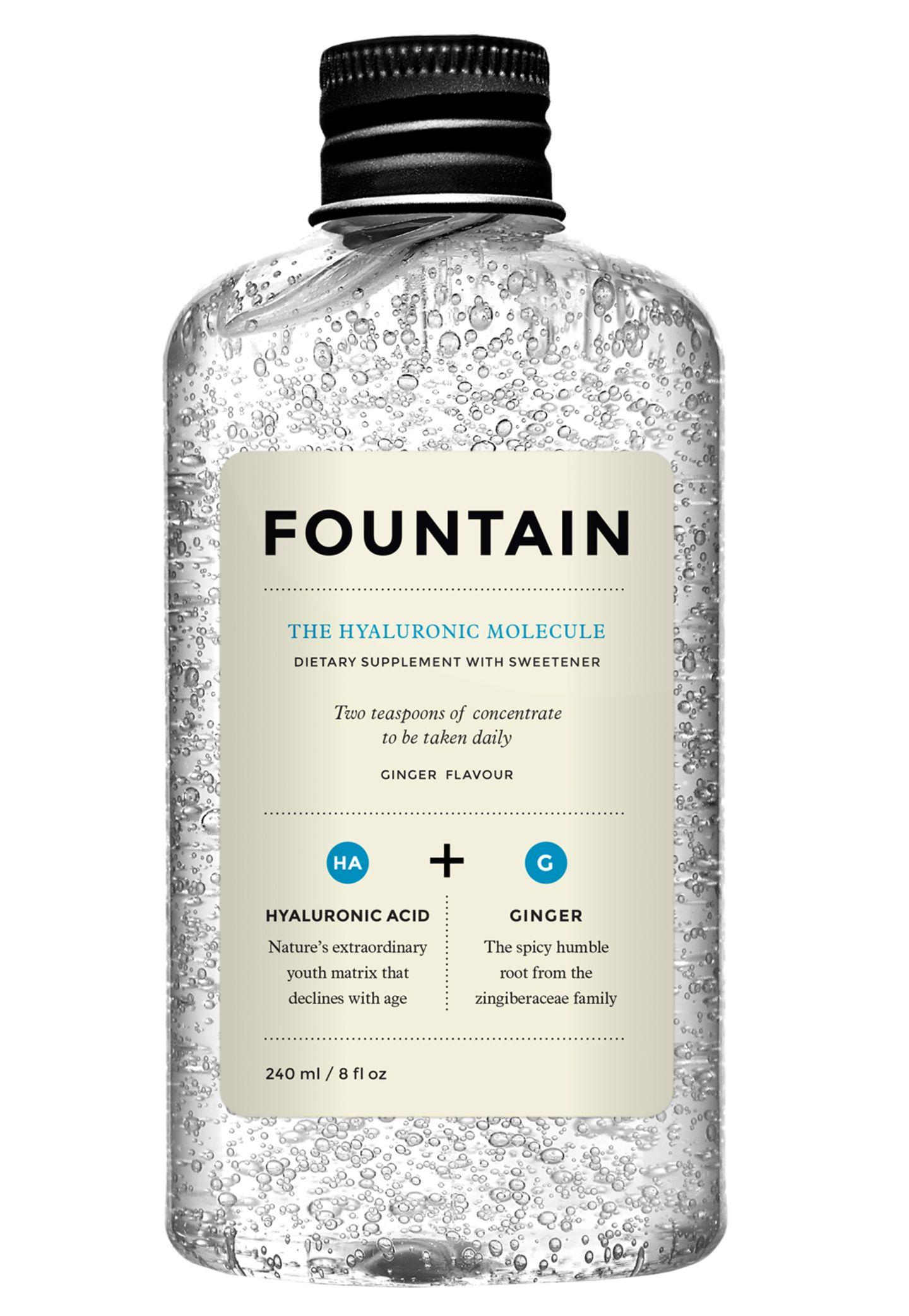"""Zwei Teelöffel täglich in den Lieblingssaft: Hyaluron-Drink """"The Hyaluronic Molecule"""" von Fountain, 240 ml, ca. 40 Euro, www.niche-beauty.com"""