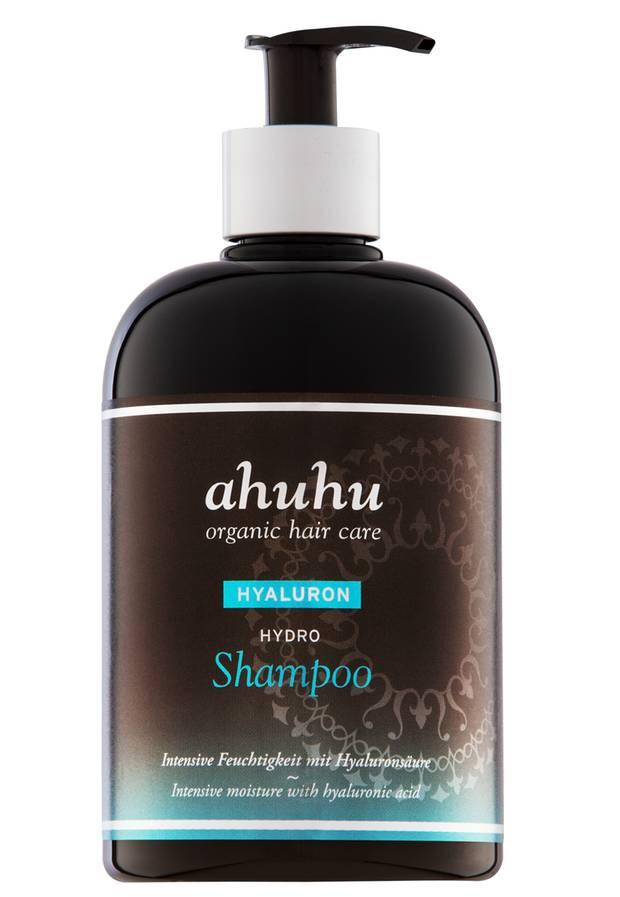"""Milde Reinigung für Haare und Kopfhaut: """"Hyaluron Hydro Shampoo"""" von Ahuhu, 500 ml, ca. 20 Euro, www.ahuhu.de"""