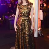 """Geena Davis glänzt bei der """"Suffragette""""-Premierenfeier im goldenen Paillettenkleid."""