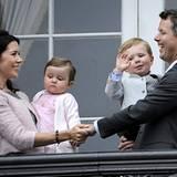 26. Mai 2008: Zu Frederiks 40. Geburtstag feiert der Kronprinz mit seiner Familie auf Schloss Amalienborg in Kopenhagen. Mit dab
