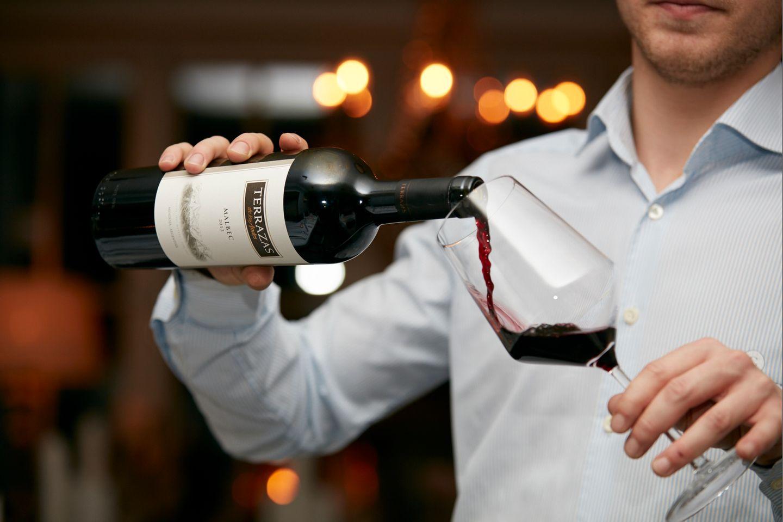 Edle Terrazas Weine gibt es zum Dinner im Gogärtchen.