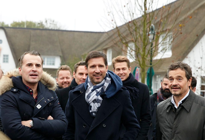 Spannung und Vorfreude auf den Friesen-Cup: Jens Ciliax (Estée Lauder), Andreas Türck (pilot) und Michael Betzelt (E.A. Cosmetics)