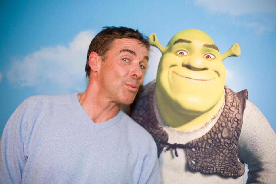 """Er kann auch mal ganz anders: 2007 ist Sascha Hehn die deutsche Stimme von """"Shrek""""."""