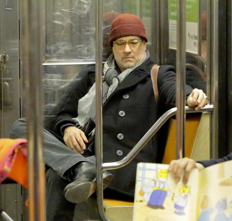 Schlaflos in New York: Auch Tom Hanks ist hin und wieder in der New Yorker U-Bahn anzutreffen.