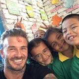"""""""Hasenohren sind auf der ganzen Welt gleich"""", schreibt David Beckham zu diesem Bild."""