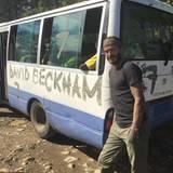 """David Beckham, der während seiner Fußballlaufbahn stets mit der Rückennummer 7 auflief, startet zu seiner """"7 Spiele auf 7 Kontinenten""""-Tour."""