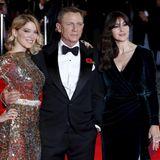 """Daniel Craig hat mit Lea Seydoux und Monica Bellucci gleich zwei """"Bond""""-Girls an seiner Seite."""
