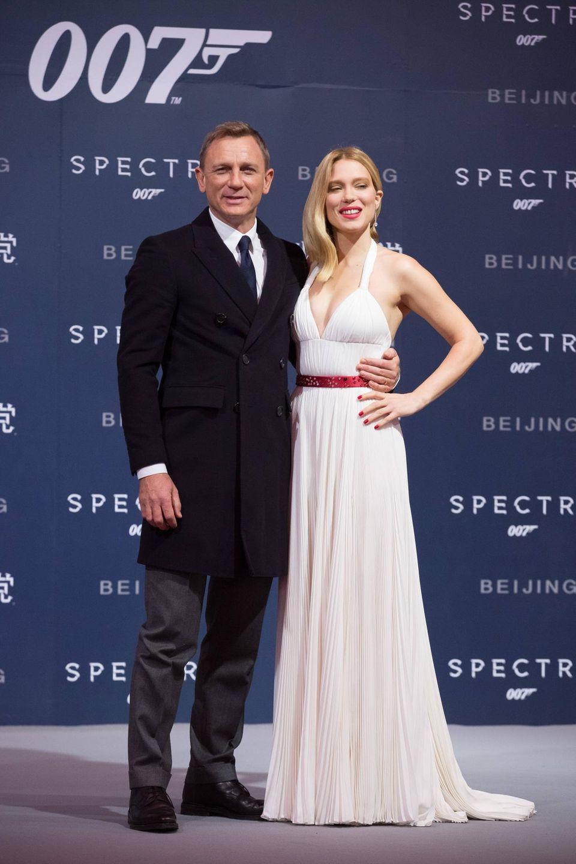 """Peking  Daniel Craig und Lea Seydoux sind in die chinesische Hauptstadt gereist, um ihren Film """"Spectre"""" zu präsentieren."""