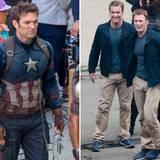 """Chris Evans wird beim Dreh von """"Captain America 2"""" von Sebastian Stan gedoubelt."""