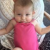 """2. September 2015: """"Babys erster Urlaub"""" schreibt Haylie Duff zu dem Bild von ihrer Tochter Ryan Ava Erhard. Zum ersten Mal teilt die Schwester von Hilary Duff ein Bild ihres Nachwuchses mit ihren Instagram-Fans."""