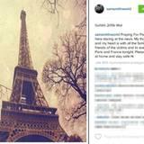 Nach den Terroranschlägen von Paris: Mit einem Foto des Eiffelturms und beschützenden Worten reagiert Sam Smith auf die Terror-Nacht.