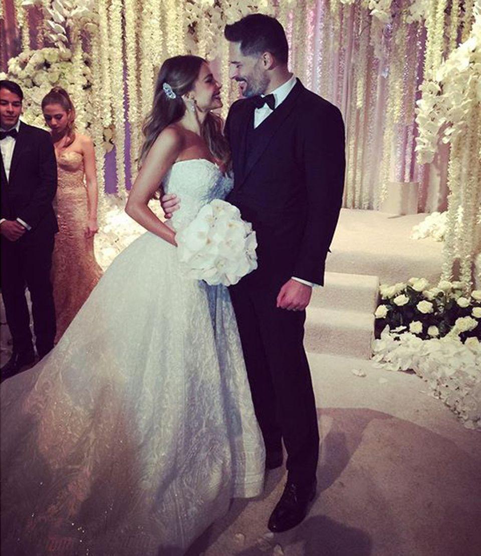 Frisch getraut: Jetzt sind Joe Manganiello und Sofía Vergara Mann und Frau.