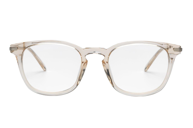 Hellseherei: transparente Brille mit Leichtmetallbügeln, von Ace & Tate, ca. 100 Euro