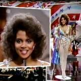 """Mit gerade mal 20 Jahren startete Halle als """"Miss Ohio"""" in die """"Miss World""""-Wahlen 1986."""