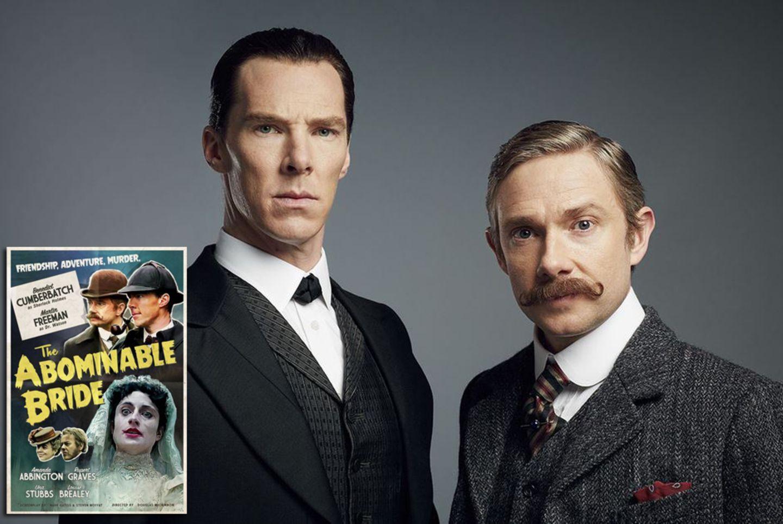 """Darauf haben alle Sherlock-Fans gewartet: Am Neujahrstag strahlt die BBC das Sherlock-Special """"The Abominable Bride"""" aus. In den Hauptrollen spielt natürlich das Erfolgsduo Benedict Cumberbatch und Martin Freeman."""