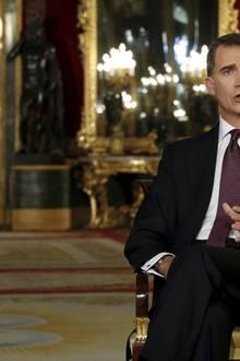 24. Dezember: Spanien  König Felipe hält seine Weihnachtsansprache vom Palast in Madrid aus.
