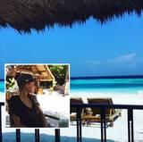 Hier ist das Festland auch weiss bedeckt - allerdings mit Sand. Alena Gerber verbringt ihren Weihnachtsurlaub auf den Malediven.