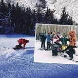 Lewis Hamilton steht einfach auf Geschwindigkeit. Auch im Schnee. Mit Freunden und Familie begibt er sich auf die Abfahrt.