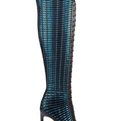 Glam to go! Stiefel zum Schnüren, von Santoni, ca. 1.600 Euro