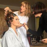 """""""Cinderella""""-Star Lily James vertraut in Sachen Haare und Make-up den begabten Händen der Streicher-Schwestern Kristie, Jenn und Ashley."""