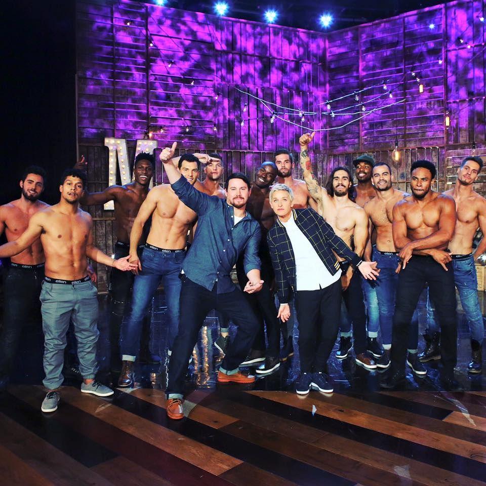 """August 2016   So viel Testosteron: Channing Tatums performt für Ellen DeGeneres aus seiner Show """"Magic Mike Live"""". Ab März 2017 gibt es die die heißen Männer Live in Vegas zu sehen."""