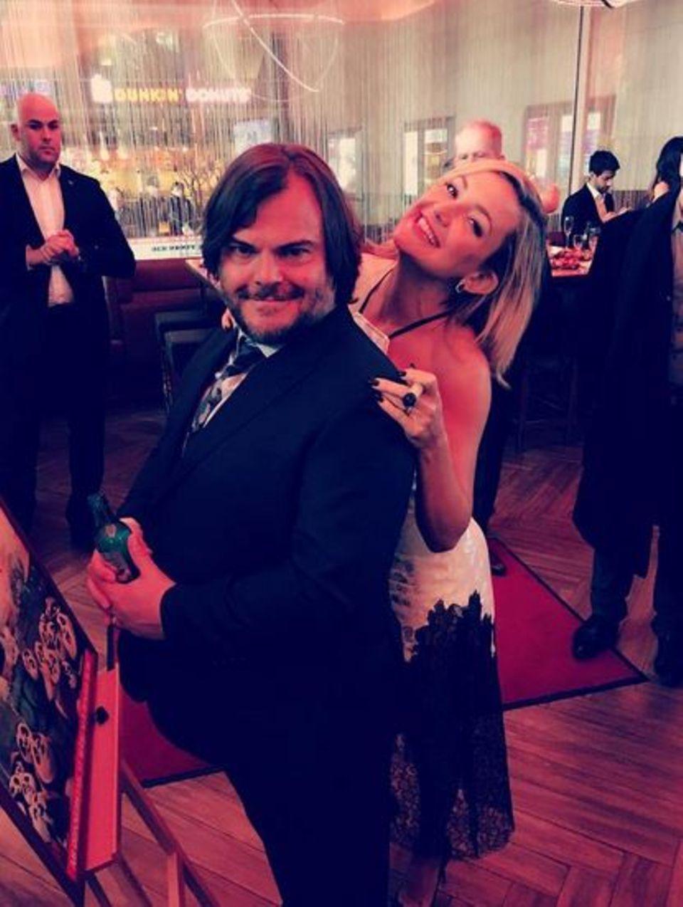 """März 2016  Jack Black und Kate Hudson amüsieren sich köstlich auf der Premierenfeier von """"Kung Fu Panda 3"""" in Berlin."""