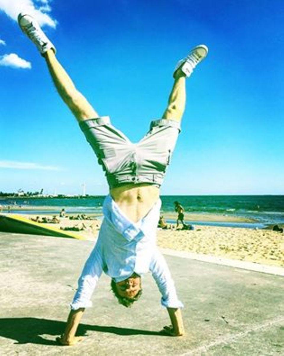 nico rosberg, australien, handstand