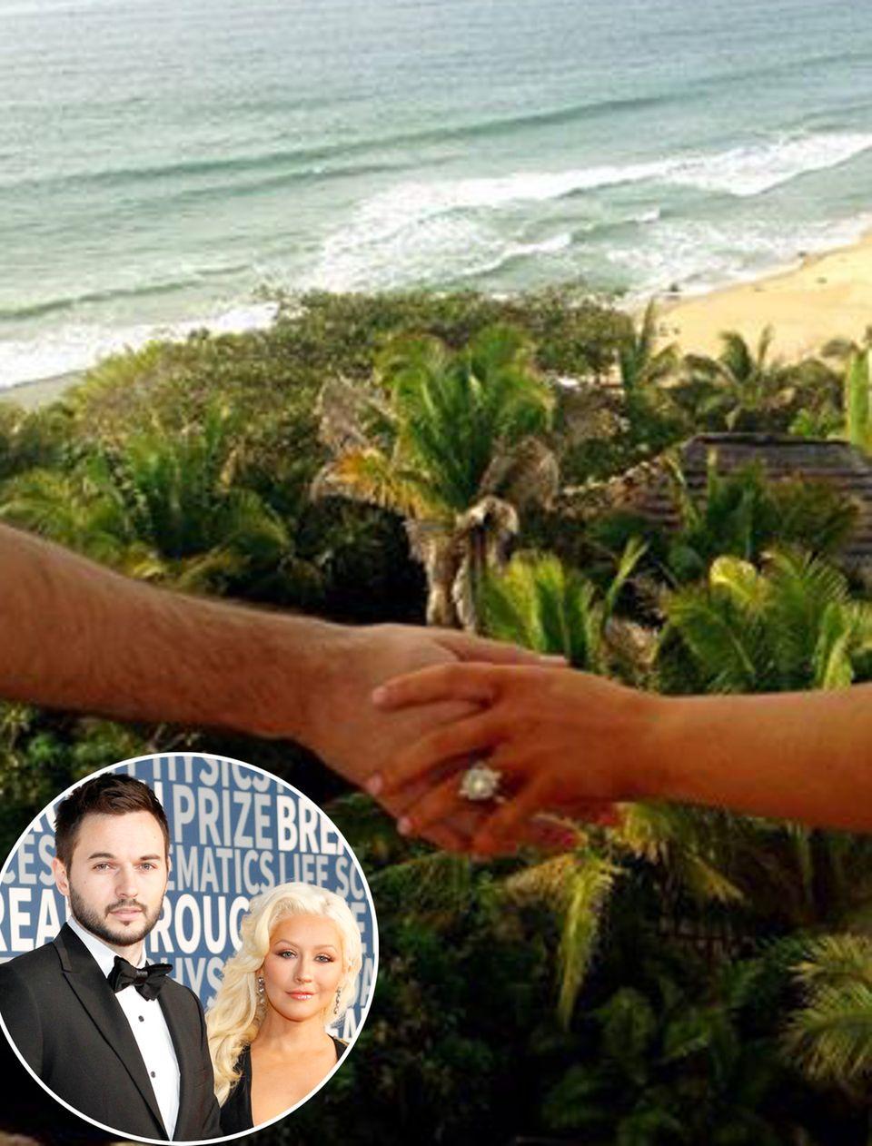 Ein Hochzeitsantrag im sonnigen Paradies ließ Christina Aguileras Herz in 2014 dahinschmelzen. Doch nicht nur die Kulisse war von ihrem Schatz Matthew Rutler perfekt gewählt. Auch das Timing stimmte: Er wählte den Valentinstag aus.