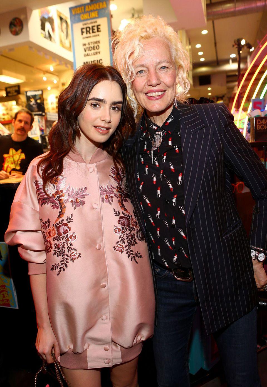 Lily Collins und Star-Fotografin Ellen Von Unwerth