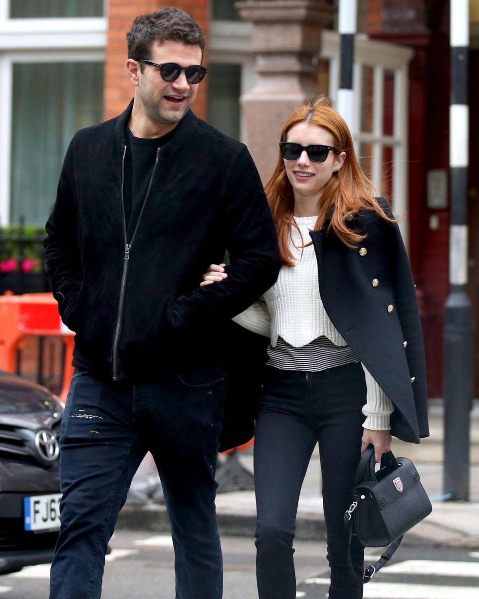 1. Juni 2016: Emma Roberts zeigt sich mit einem neuen Mann an ihrer Seite. Gemeinsam mit Christopher Hines besucht die Schauspielerin ein Café in London.