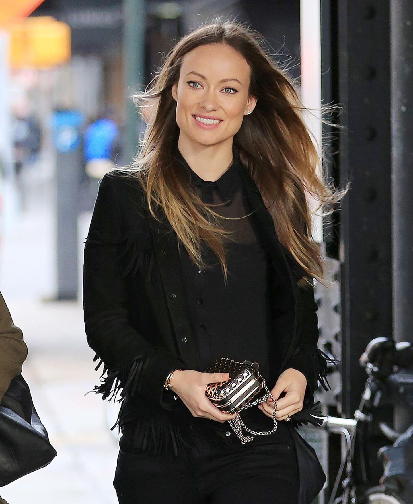 7. April 2016: Olivia Wilde wird in Manhattan gesichtet.