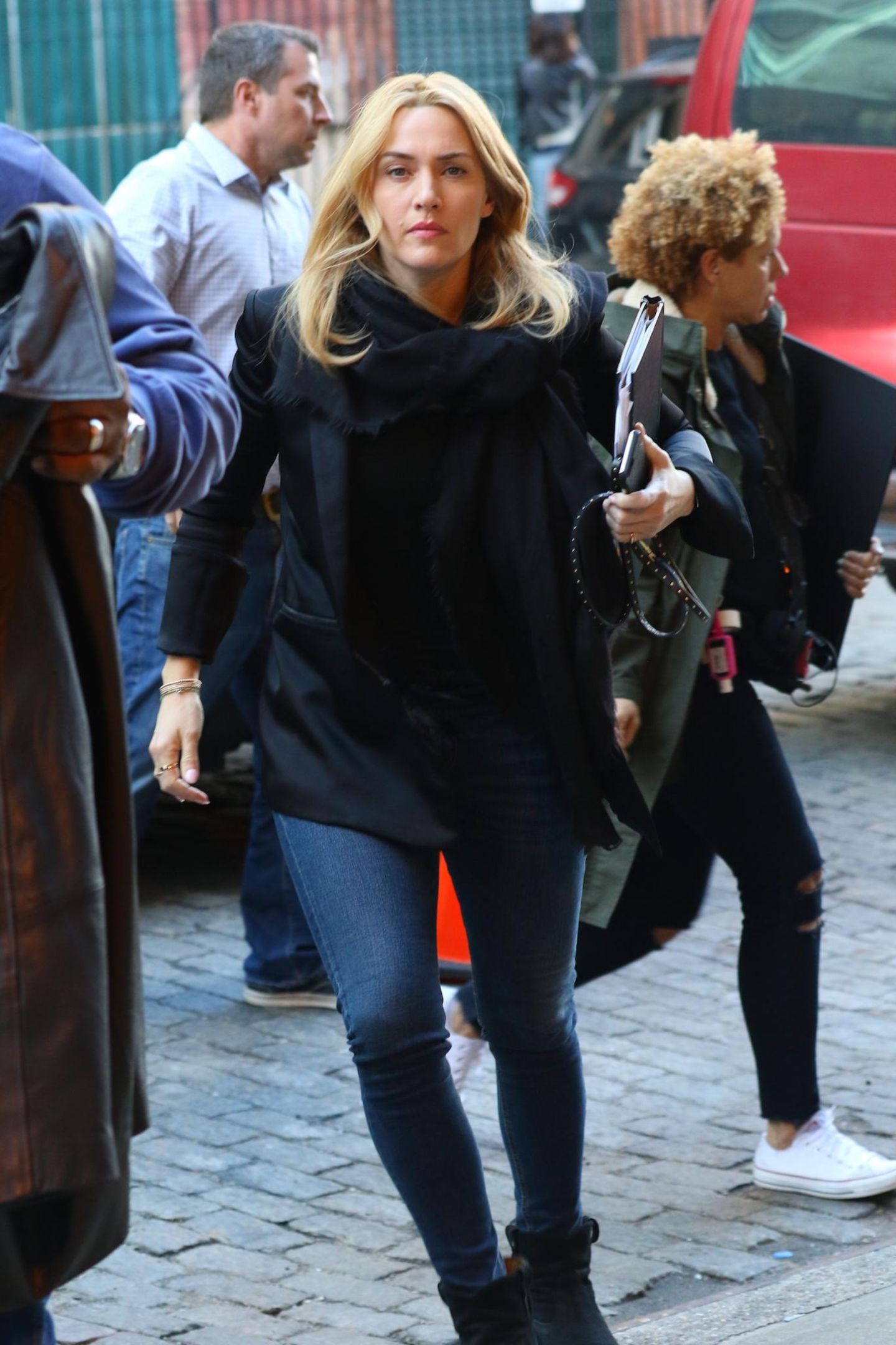 1. März 2016: Kate Winslet ist in New York auf dem Weg zu den Dreharbeiten zu ihrem neuen Film.