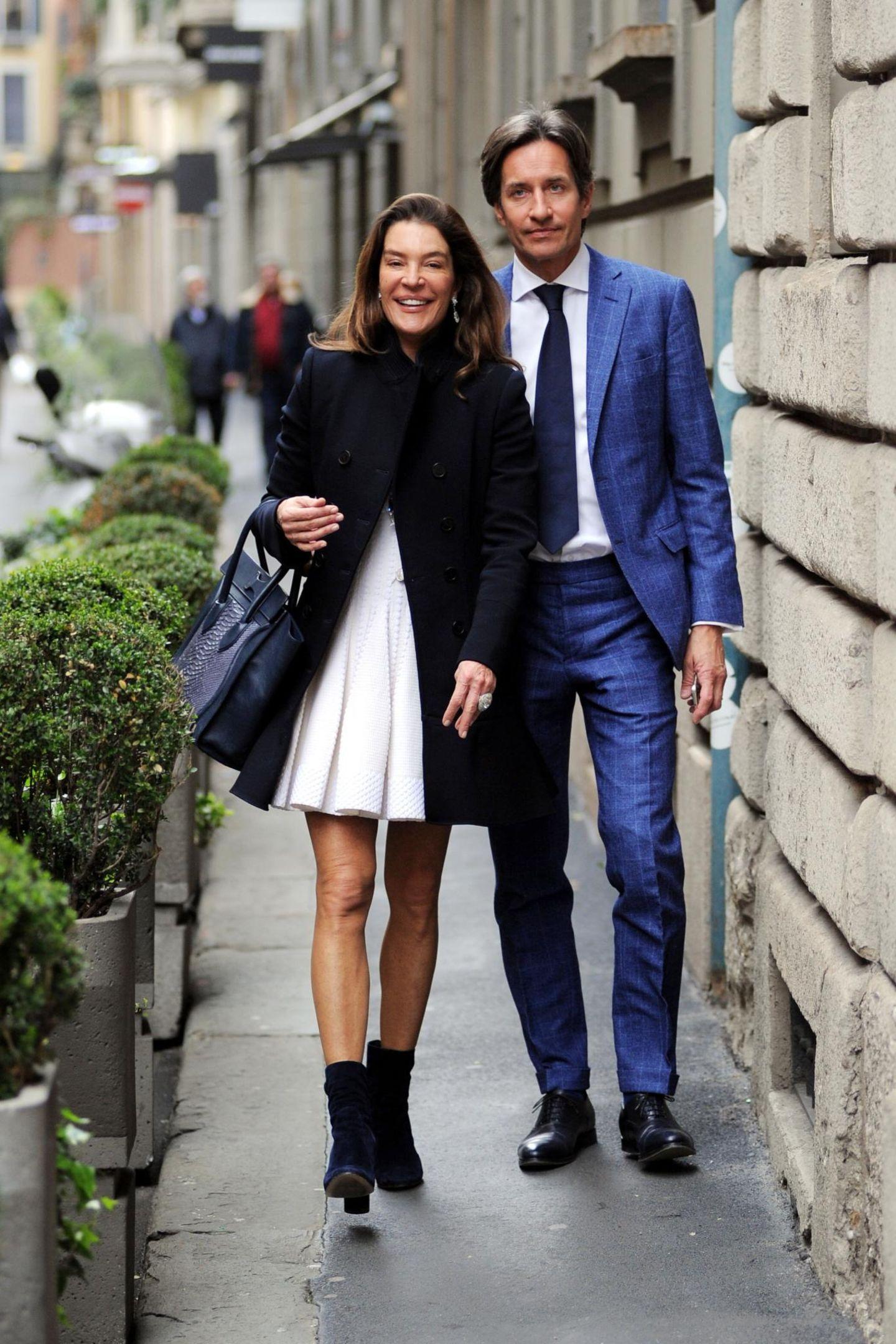 14. März 2016: Fiona Swarovsky und ihr Mann Karl Heinz Grasser sind auf Shoppingtour in Mailand.