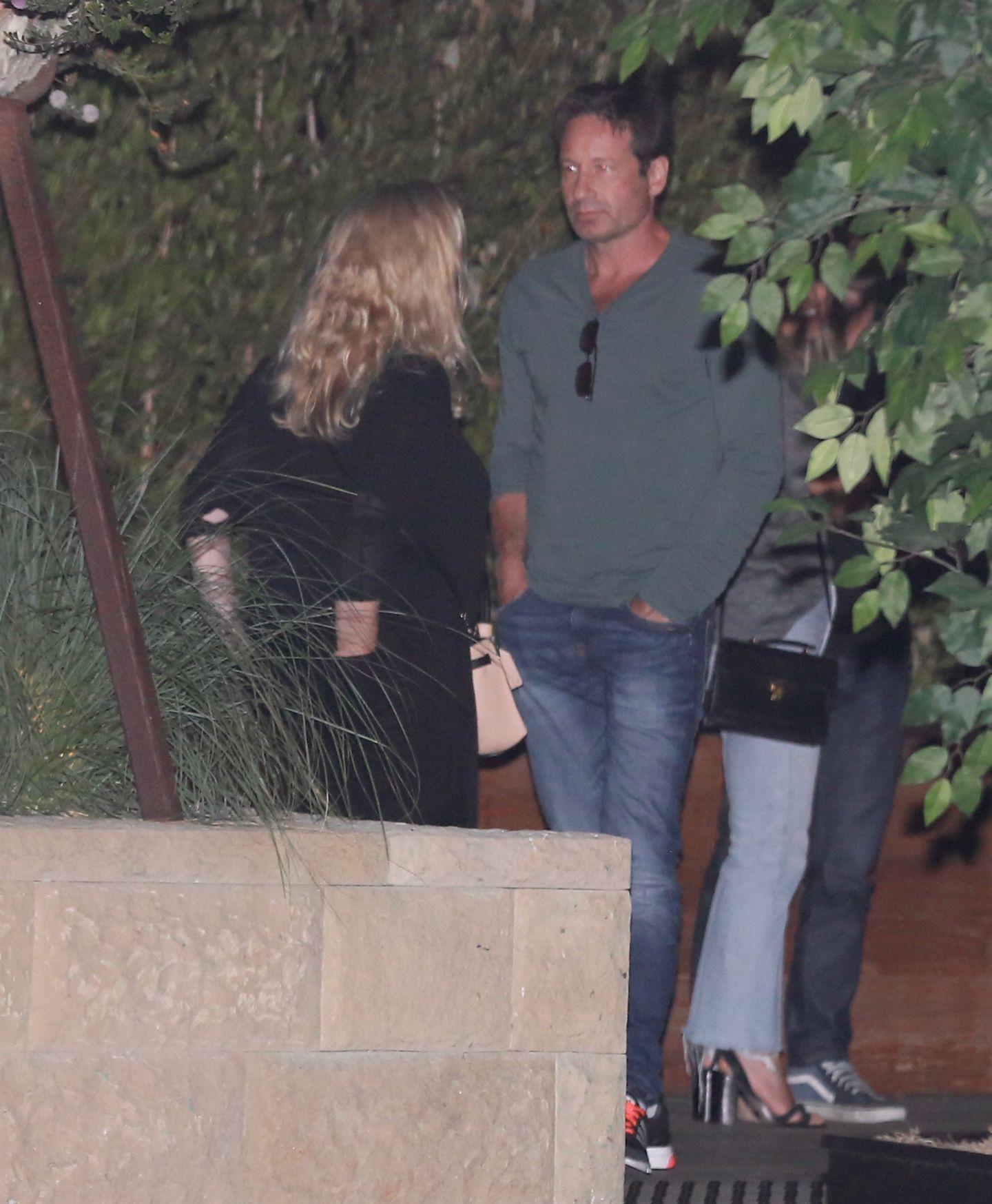 """7. August 2016: David Duchovny wird hier bei einer Party im """"Soho House"""" in Malibu abgelichtet."""
