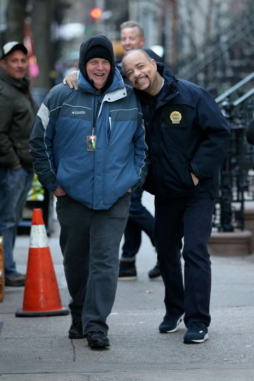 """21. Januar 2016: Ice-T ist am Set von """"Law & Order: SVU"""" in New York City auf dem Weg zu seinem Trailer."""
