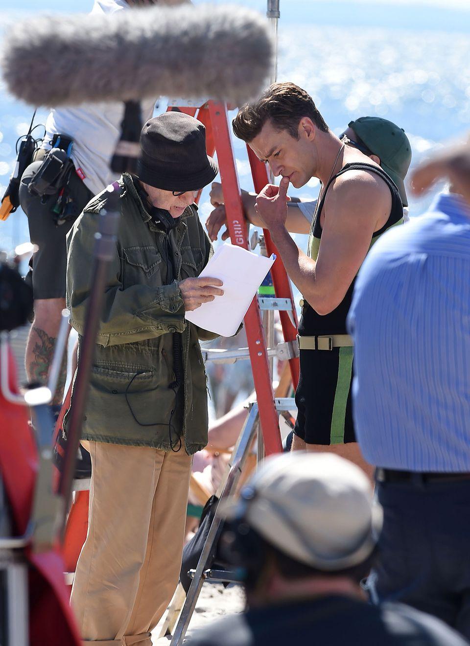 Aber nein, Justin Timberlake hat nicht etwa den Beruf gewechselt. Derzeit dreht der Sänger und Schauspieler mit Regie-Legende Woody Allen einen neuen, bisher unbetitelten Film. Und auf den freuen wir uns schon, Retro-Bademeister Justin finden wir nämlich ziemlich sexy!