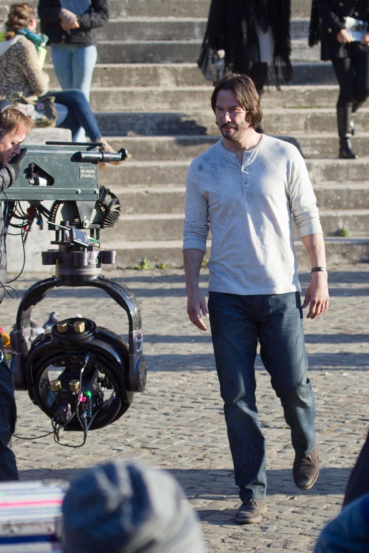 """25. Januar 2016: Keanu Reeves steht für """"John Wick 2"""" in Rom vor der Kamera."""