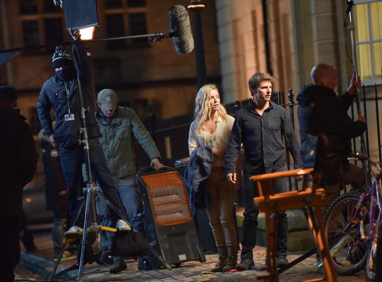 """5. April 2016: Annabelle Wallis und Tom Cruise drehen in Oxford Szenen für den Film """"The Mummy""""."""