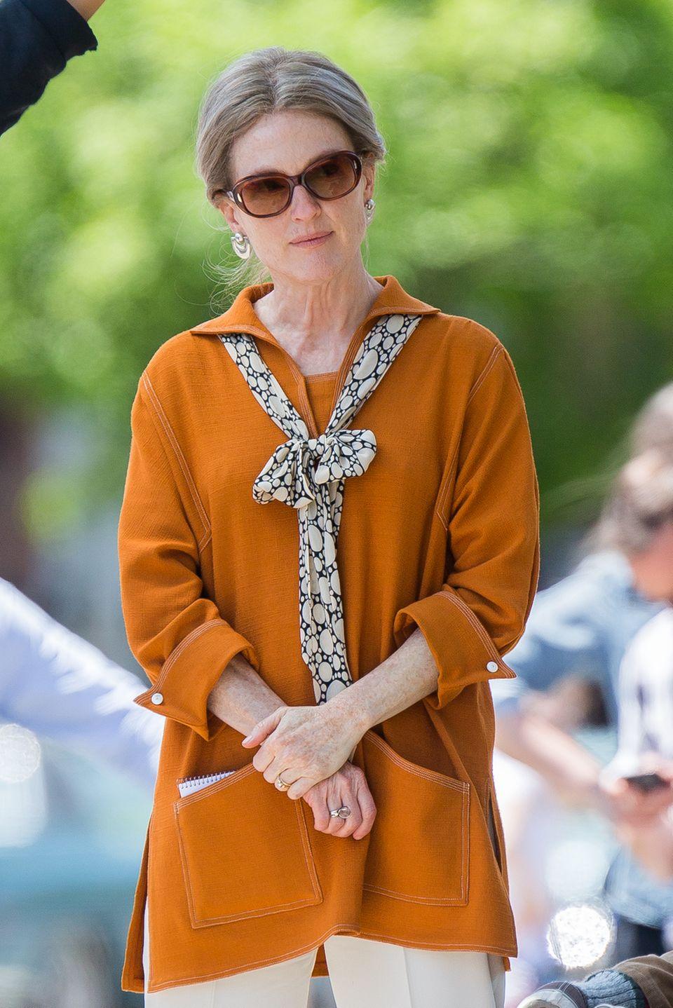 """20. Mai 2016: Für die Dreharbeiten zum Film """"Wonderstruck"""" ist Julianne Moore sichtlich gealtert."""