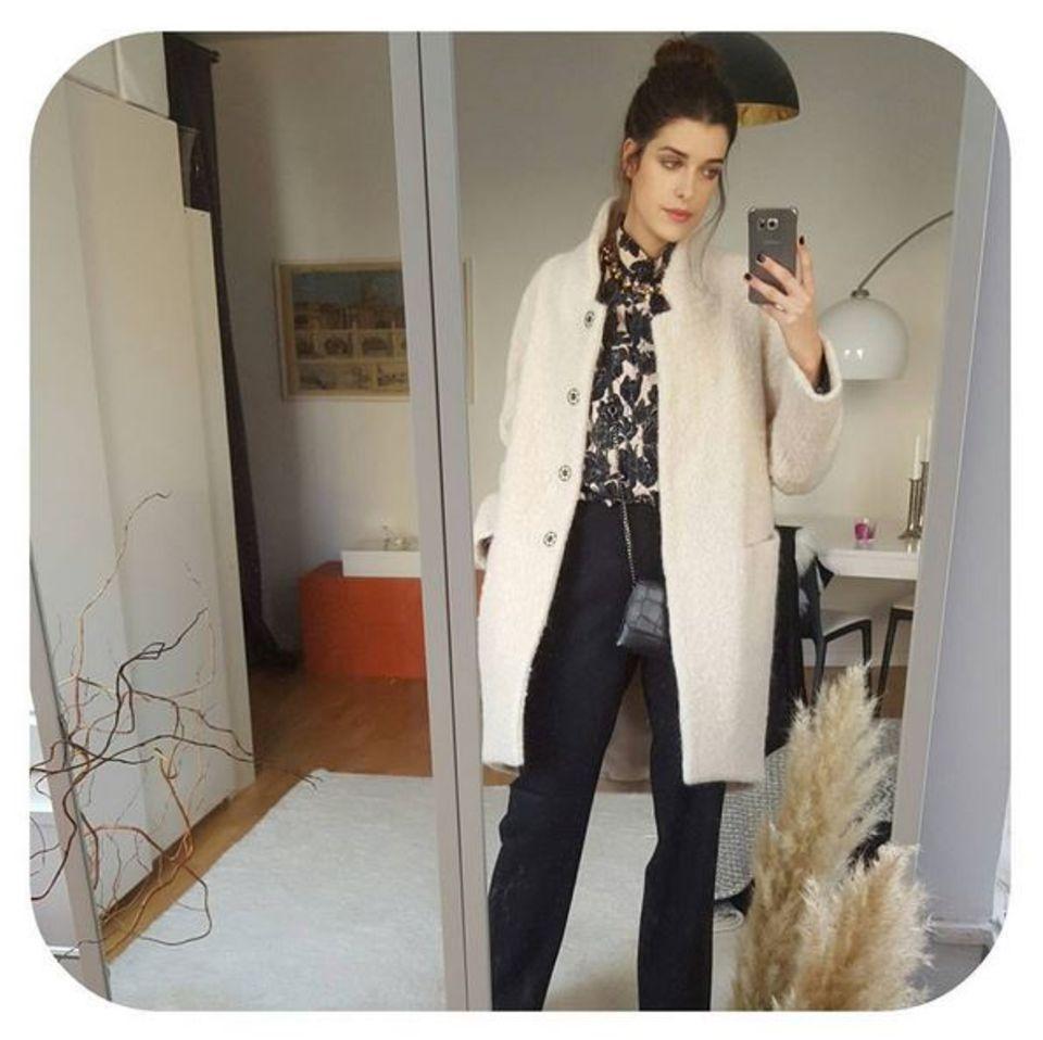 """Die GNTM-Zweite aus 2009, Marie Nasemann, interessiert sich besonders für nachhaltige Mode. Ihren ersten Zwischenstopp legt sie am Dienstagmittag daher im """"Greenshowroom"""" ein."""