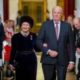 Das Königpaar schreitet zur abendlichen Gala.