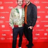 GALA-Modechef Marcus Luft zusammen mit Moderator Jochen Schropp auf dem Red Carpet. Obwohl der Moderator momentan mit einer Erkältung kämpft, versprühte er wie immer gute Laune.