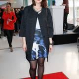 Maria Ehrich trug einen Komplettlook von Laurèl, deren Show zudem ihr persönliches Highlight der Fashion Week war.