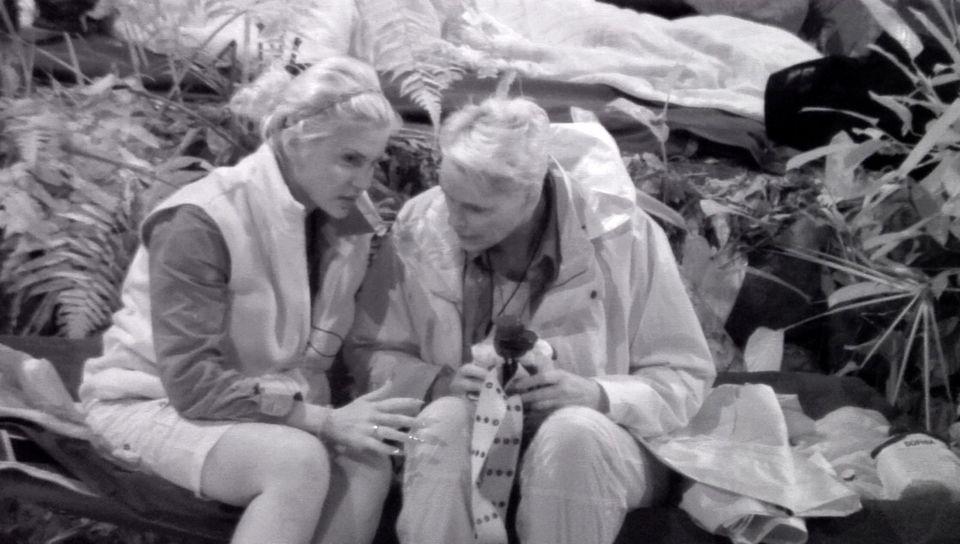 Tag 2  Sophia Wollersheim macht sich Sorgen um die trockene Alkoholikerin Jenny Elvers und diskutiert das mit Brigitte Nielsen.
