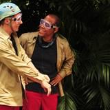 """Jürgen Milski wird von seinen Mitcampern zur Dschungelprüfung """"Altventskalender"""" geschickt und nimmt Ricky mit."""